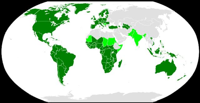 Distribución del alfabeto latino